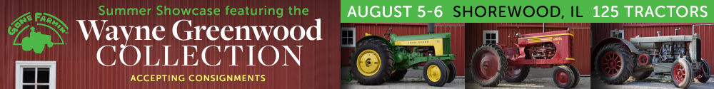 Gone Farmin' Tractor Auction in Shorewood, IL on August 5-6, 2016