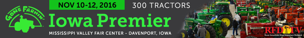 Gone Farmin' Tractor Auction in Davenport, IA on November 10-12, 2016