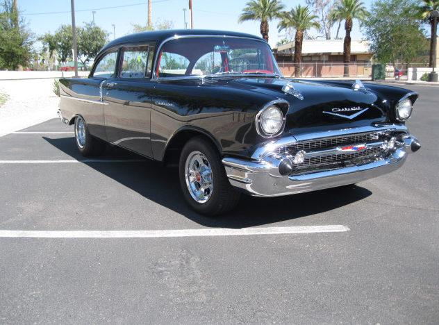 1957 Chevrolet 150 Sedan 327/365 HP presented as lot S93 at Anaheim, CA 2012 - image2