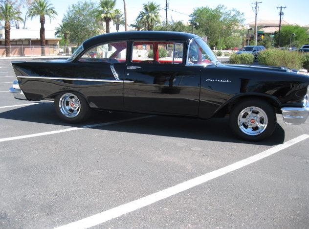 1957 Chevrolet 150 Sedan 327/365 HP presented as lot S93 at Anaheim, CA 2012 - image7