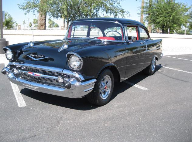 1957 Chevrolet 150 Sedan 327/365 HP presented as lot S93 at Anaheim, CA 2012 - image8