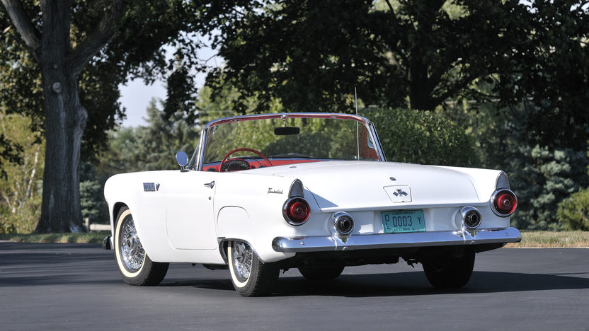 1955 Ford Thunderbird Convertible 292 CI, Automatic presented as lot S96 at Anaheim, CA 2012 - image2