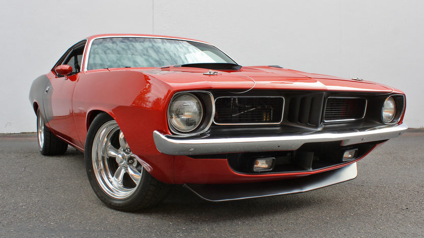 1973 Plymouth Cuda Pro Touring 540 CI, Automatic presented as lot S120 at Anaheim, CA 2012 - image8