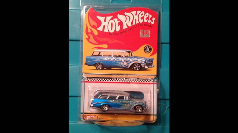 1956 Chevrolet 210 Handyman Wagon 496 CI, Life-Size Hot Wheels Car presented as lot S134 at Anaheim, CA 2012 - image6