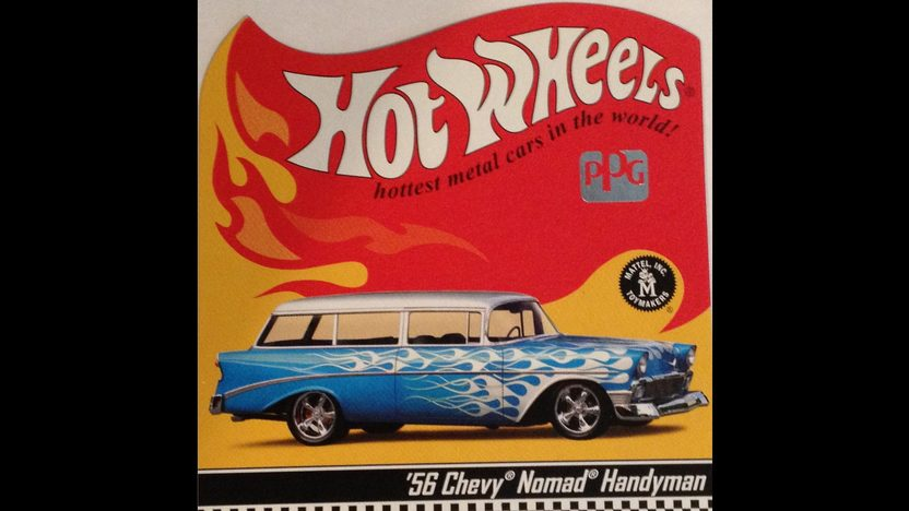 1956 Chevrolet 210 Handyman Wagon 496 CI, Life-Size Hot Wheels Car presented as lot S134 at Anaheim, CA 2012 - image7