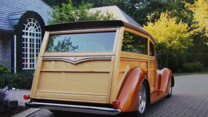 1937 Ford Woody 350/275 HP, Automatic presented as lot S148 at Anaheim, CA 2012 - image2