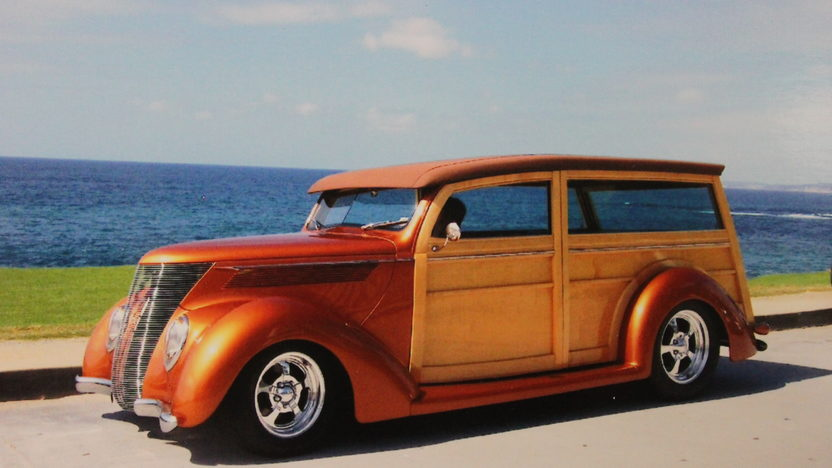 1937 Ford Woody 350/275 HP, Automatic presented as lot S148 at Anaheim, CA 2012 - image6