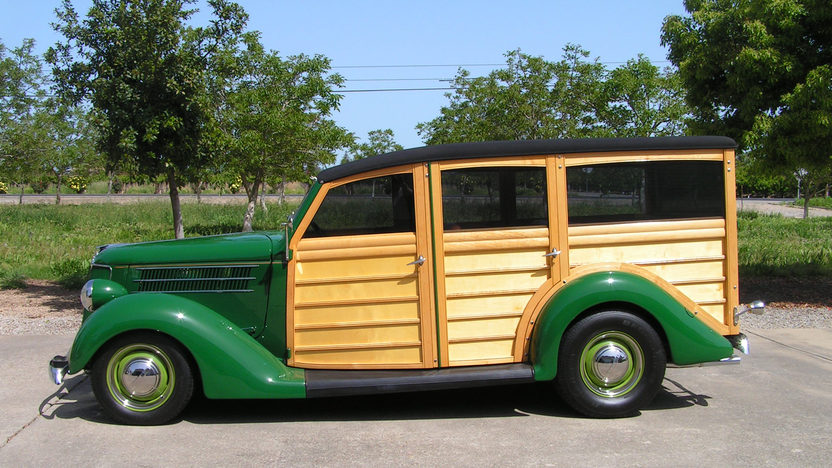 1936 Ford Woody Wagon LS1, Automatic presented as lot S216 at Anaheim, CA 2012 - image2