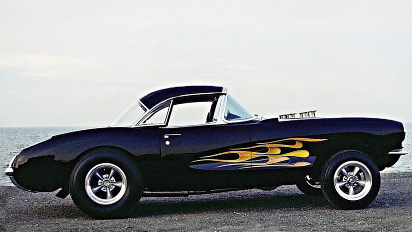 1957 Chevrolet Corvette Gasser 427/450 HP, 4-Speed presented as lot F85 at Anaheim, CA 2013 - image7
