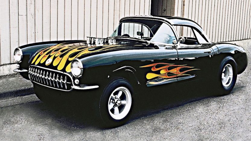 1957 Chevrolet Corvette Gasser 427/450 HP, 4-Speed presented as lot F85 at Anaheim, CA 2013 - image8