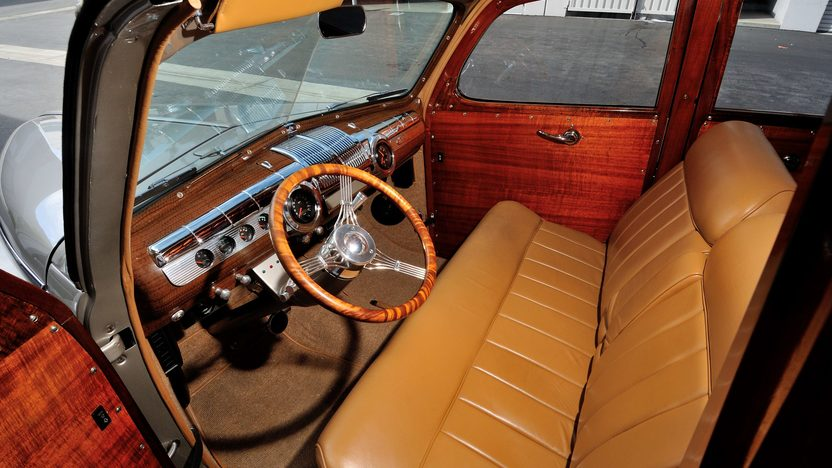 1948 Ford Woody Resto Mod 350 CI, Steel Body presented as lot S94 at Anaheim, CA 2013 - image4