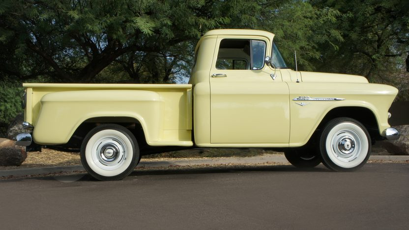 1955 Chevrolet 3100 Pickup CCI Gold Certificate presented as lot S100 at Anaheim, CA 2013 - image2