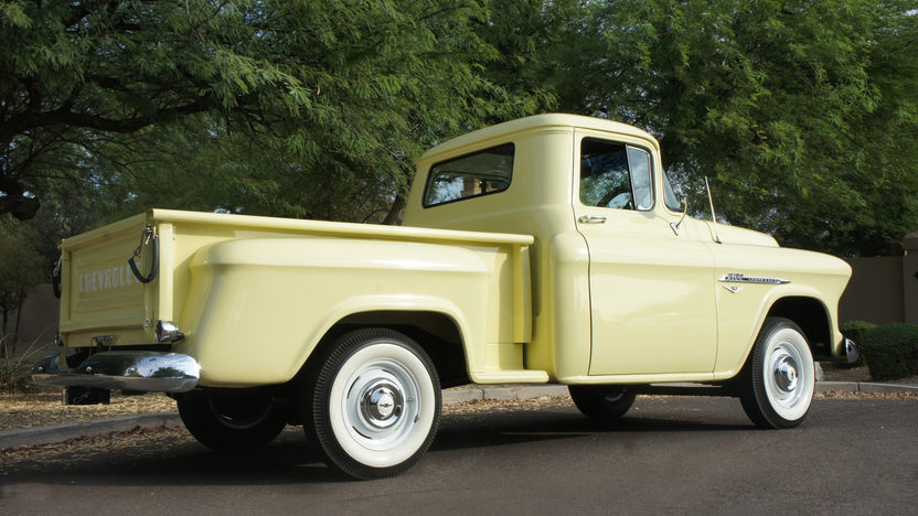 1955 Chevrolet 3100 Pickup CCI Gold Certificate presented as lot S100 at Anaheim, CA 2013 - image3