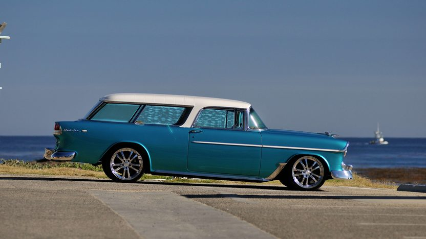 1955 Chevrolet Nomad Resto Mod LS1, Automatic presented as lot S105 at Anaheim, CA 2013 - image2