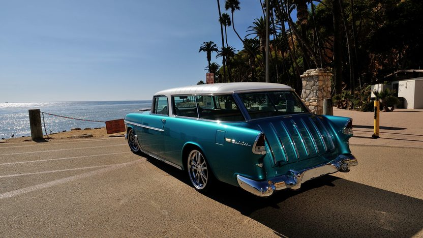 1955 Chevrolet Nomad Resto Mod LS1, Automatic presented as lot S105 at Anaheim, CA 2013 - image3