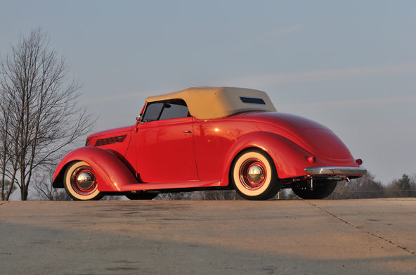 1937 Ford Cabriolet Street Rod 350/300 HP, Steel Body presented as lot S120 at Anaheim, CA 2013 - image2