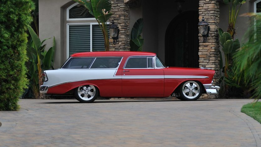 1956 Chevrolet Nomad Resto Mod LS1/400 HP, Art Morrison Chassis presented as lot S135 at Anaheim, CA 2013 - image2