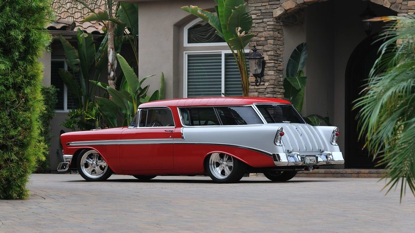 1956 Chevrolet Nomad Resto Mod LS1/400 HP, Art Morrison Chassis presented as lot S135 at Anaheim, CA 2013 - image3