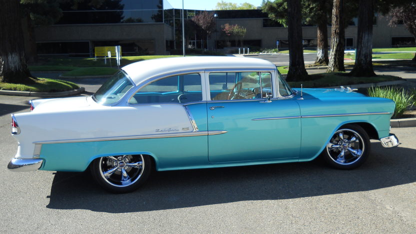 1955 Chevrolet Bel Air Sedan 454/425 HP, Automatic presented as lot S175 at Anaheim, CA 2013 - image2