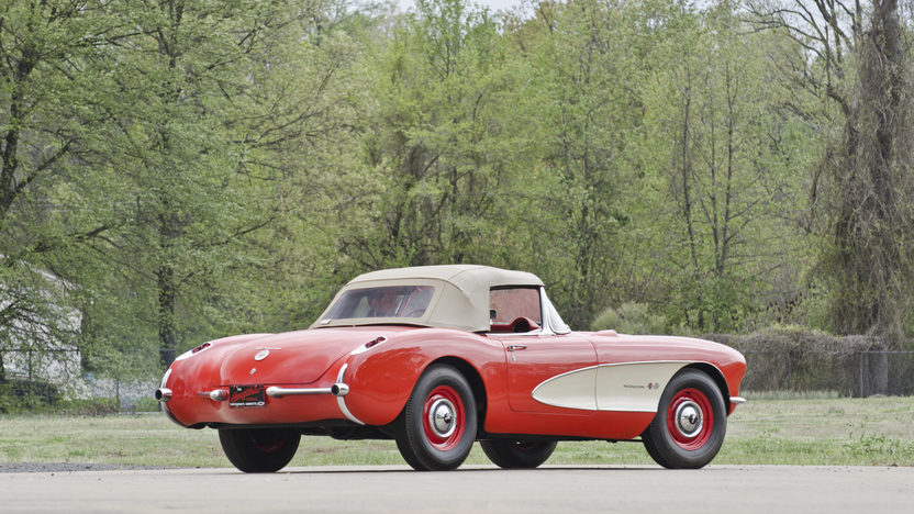 1957 Chevrolet Corvette Convertible 283/245 HP, 4-Speed presented as lot S96 at North Little Rock, AR 2012 - image3