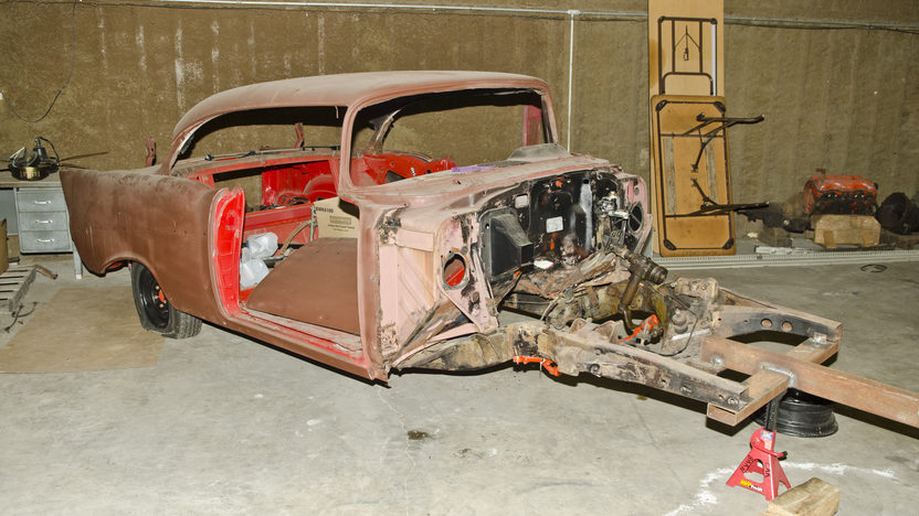 1957 Chevrolet Bel Air Parts Car presented as lot S162 at North Little Rock, AR 2012 - image2