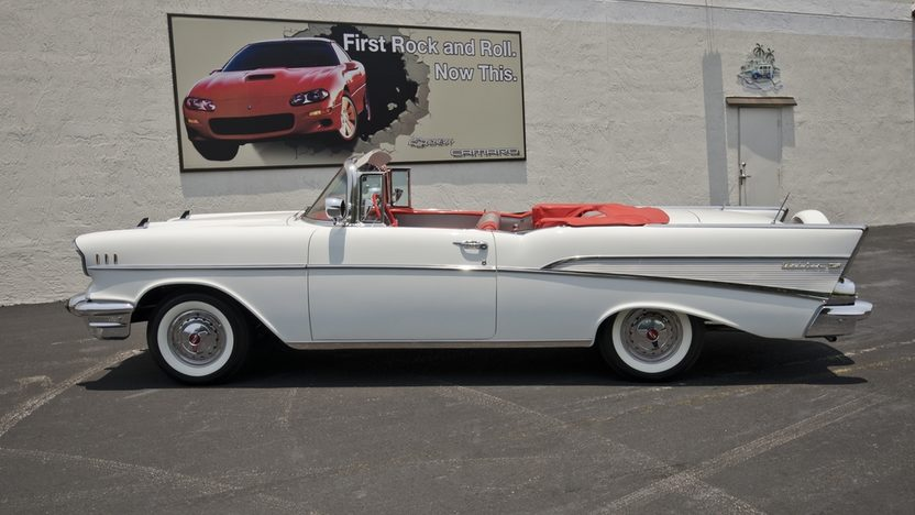 1957 Chevrolet Bel Air Convertible 283/220 HP, Continental Kit presented as lot S43 at Boynton Beach, FL 2013 - image10