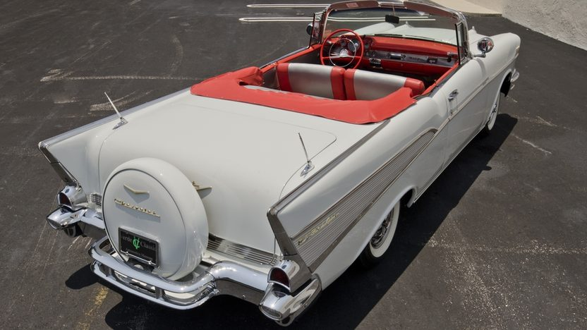 1957 Chevrolet Bel Air Convertible 283/220 HP, Continental Kit presented as lot S43 at Boynton Beach, FL 2013 - image2