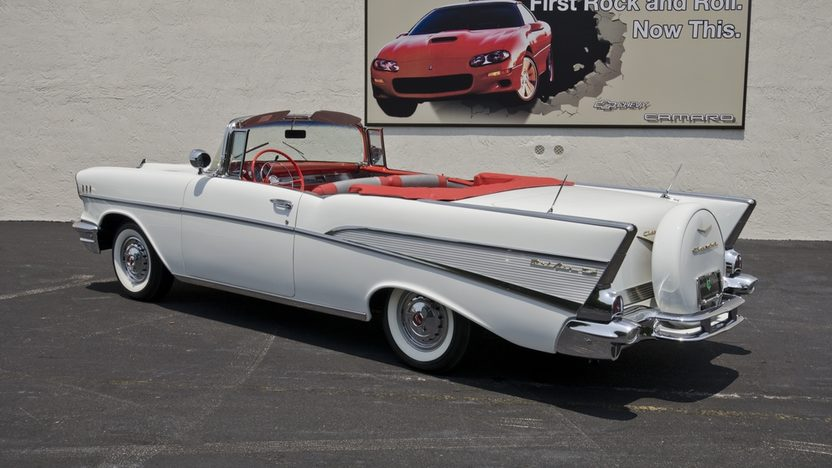 1957 Chevrolet Bel Air Convertible 283/220 HP, Continental Kit presented as lot S43 at Boynton Beach, FL 2013 - image9