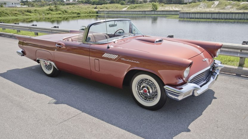 1957 Ford Thunderbird 312 CI, Automatic, Two Tops presented as lot S21 at Boynton Beach, FL 2013 - image3