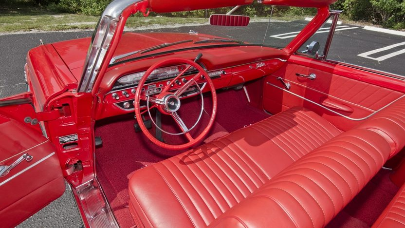 1961 Ford Galaxie Sunliner Red/Red, Continental Kit presented as lot S32 at Boynton Beach, FL 2013 - image5
