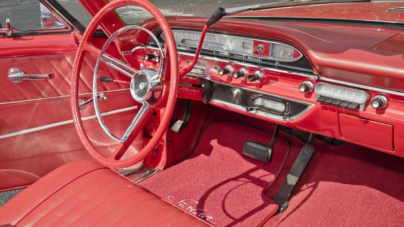 1961 Ford Galaxie Sunliner Red/Red, Continental Kit presented as lot S32 at Boynton Beach, FL 2013 - image6