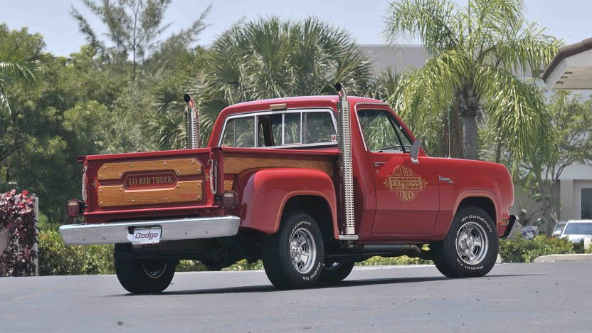 1979 Dodge Lil Red Express Pickup 360 CI, Chrome Stacks presented as lot S71 at Boynton Beach, FL 2013 - image2