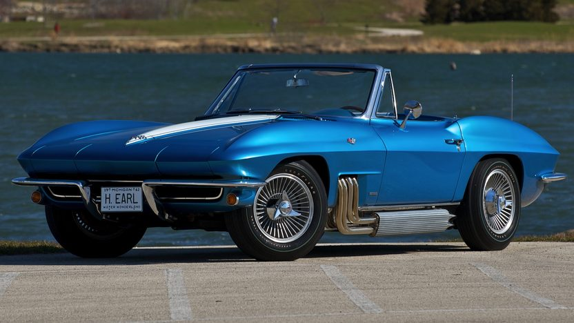 1963 Chevrolet Corvette Convertible The Personal Car of GM Designer Harley Earl presented as lot S100 at St. Charles, IL 2009 - image2