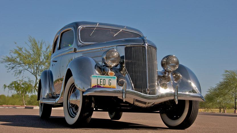 1936 Ford Deluxe 2-Door Sedan Factory Stainless Steel, 3-Speed   presented as lot S90 at Monterey, CA 2010 - image2