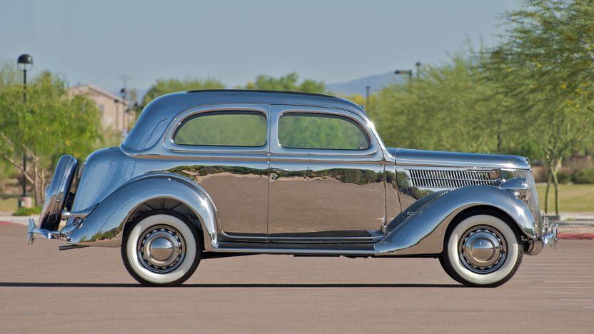 1936 Ford Deluxe 2-Door Sedan Factory Stainless Steel, 3-Speed   presented as lot S90 at Monterey, CA 2010 - image3