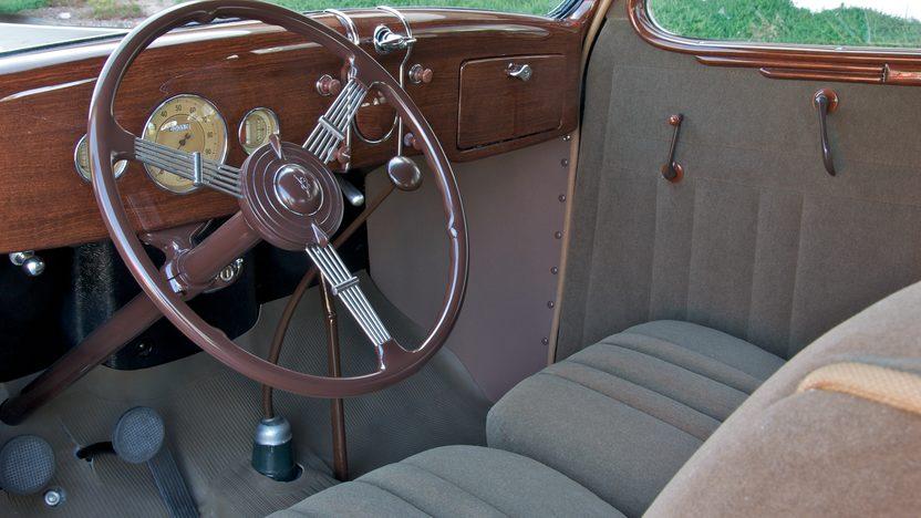 1936 Ford Deluxe 2-Door Sedan Factory Stainless Steel, 3-Speed   presented as lot S90 at Monterey, CA 2010 - image4