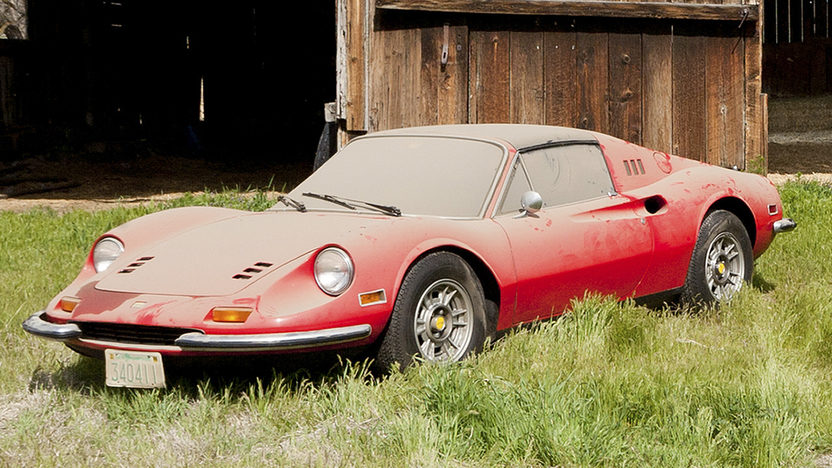 1974 Ferrari Dino 246 GTS Barn Find with 2,910 miles presented as lot S88 at Monterey, CA 2011 - image9