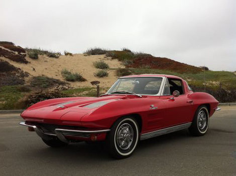 1963 Chevrolet Corvette Split Window Coupe 327/360 HP, 4-Speed presented as lot S99 at Monterey, CA 2012 - image8