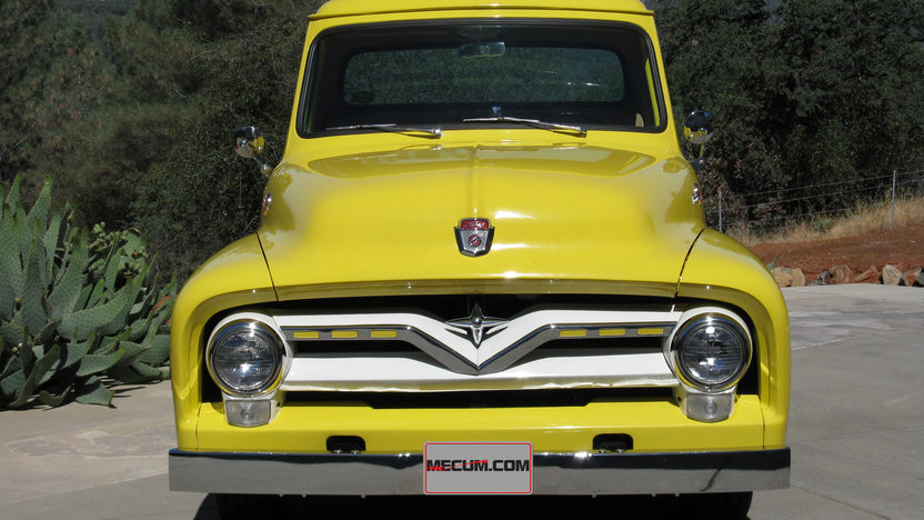 1955 Ford F100 Pickup 223/115 HP, 4-Speed presented as lot T102 at Monterey, CA 2013 - image10