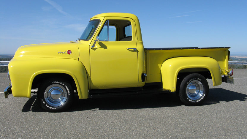 1955 Ford F100 Pickup 223/115 HP, 4-Speed presented as lot T102 at Monterey, CA 2013 - image2