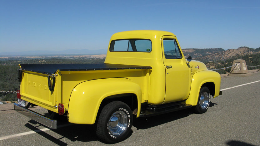 1955 Ford F100 Pickup 223/115 HP, 4-Speed presented as lot T102 at Monterey, CA 2013 - image9