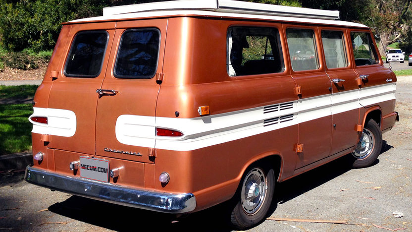 1962 Chevrolet Corvair Greenbrier Camper Van presented as lot T183 at Monterey, CA 2013 - image3