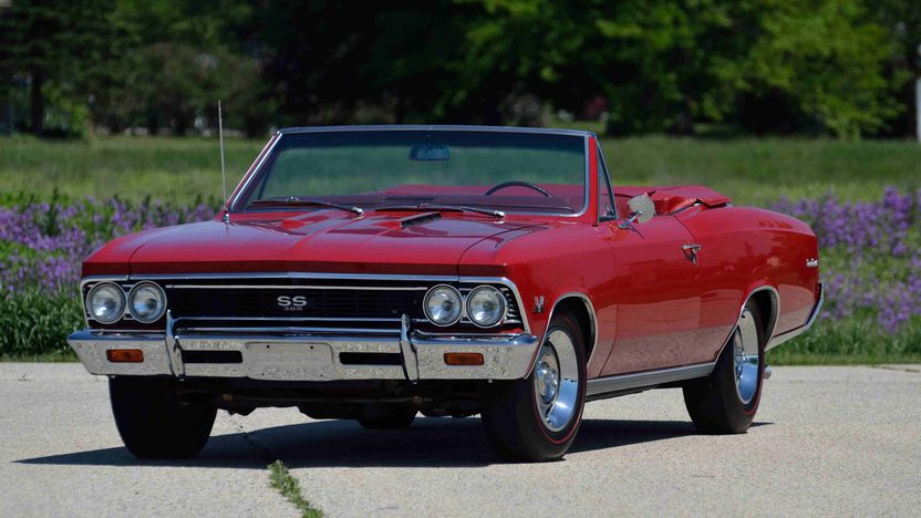 1966 Chevrolet Chevelle SS Convertible 396/360 HP, 4-Speed presented as lot F42 at Monterey, CA 2013 - image12