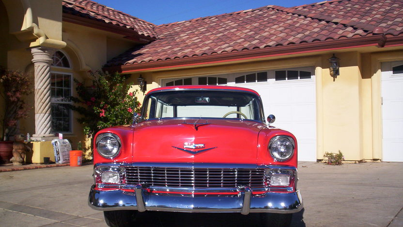 1956 Chevrolet Nomad Wagon 350 CI, Automatic presented as lot F66 at Monterey, CA 2013 - image5