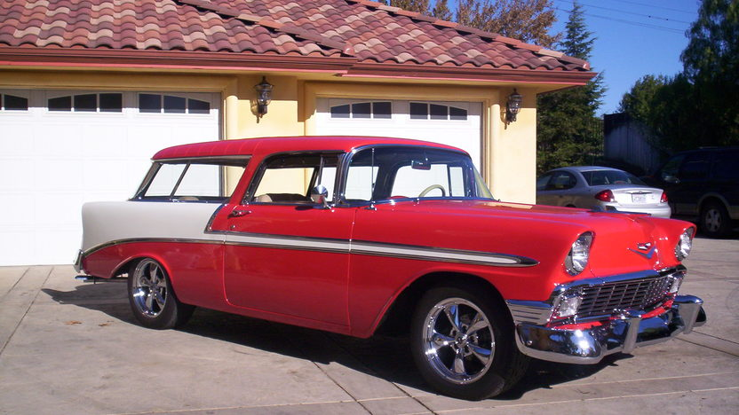 1956 Chevrolet Nomad Wagon 350 CI, Automatic presented as lot F66 at Monterey, CA 2013 - image6