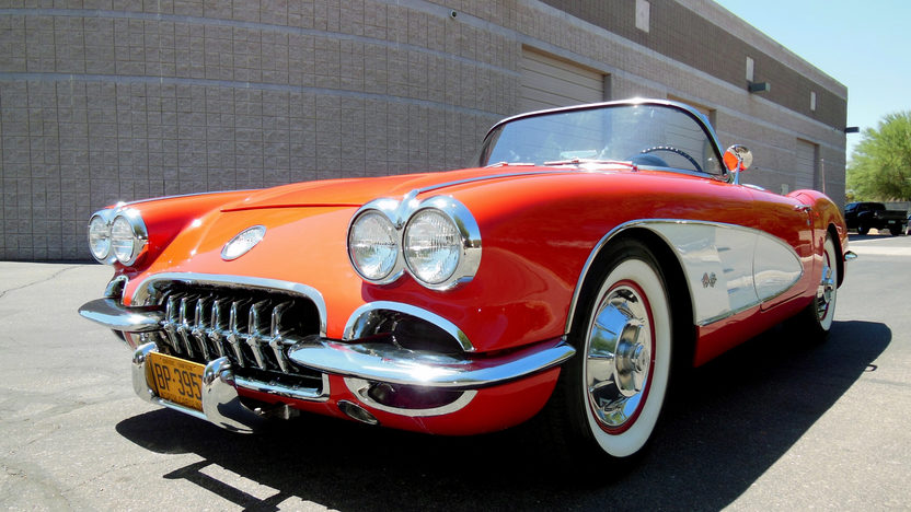 1958 Chevrolet Corvette Convertible 283 CI, 4-Speed presented as lot F75 at Monterey, CA 2013 - image10