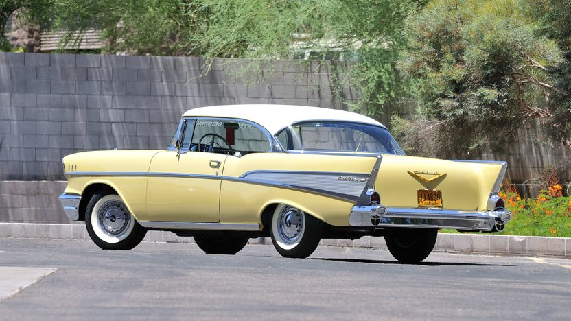 1957 Chevrolet Bel Air Hardtop Unrestored One Owner Car presented as lot F98 at Monterey, CA 2013 - image3