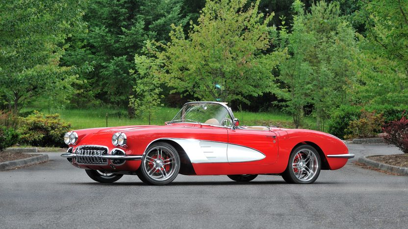 1959 Chevrolet Corvette Resto Mod LS2/400 HP, 6-Speed presented as lot F110 at Monterey, CA 2013 - image12