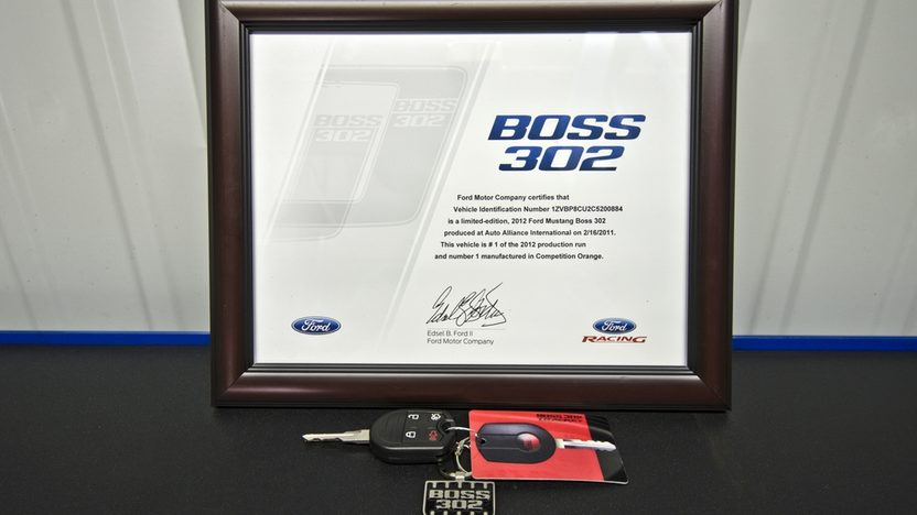 2012 Ford Mustang Boss 302 Street Edition Serial #1, Less than 1,000 Miles presented as lot F129 at Monterey, CA 2013 - image12