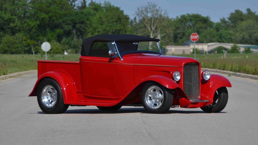 1932 Ford Roadster Pickup Street Rod LT1, Original Steel Body presented as lot F163 at Monterey, CA 2013 - image10
